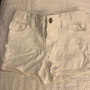 Girls white jean shorts